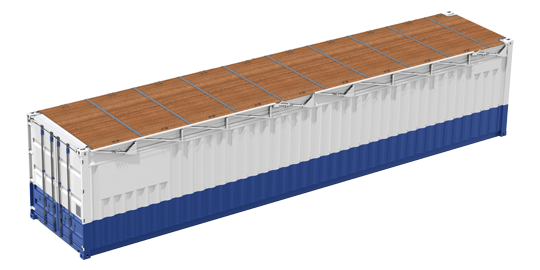 Container Storage with Removable Roof